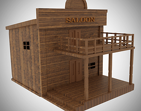 Wild West Building 3D model VR / AR ready