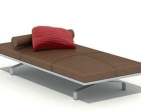 Brown Modern Bed 3D