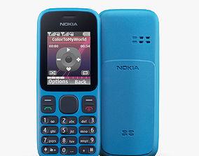 3D model Nokia 100 Ocean Blue