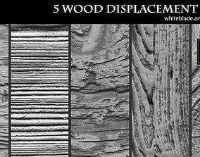ZBrush Mudbox - 5 Wood Pattern Displacement 3D asset 4