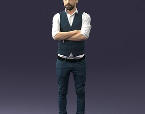 Stylish man in vest 0198 3D Print Ready