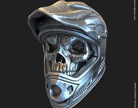 3D print model gangster Biker helmet skull vol5 pendant