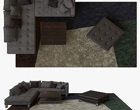 3D model Minotti Pollock COMPOSITION 01