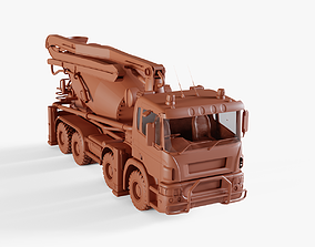 truck 3D model VR / AR ready Concrete Mixer
