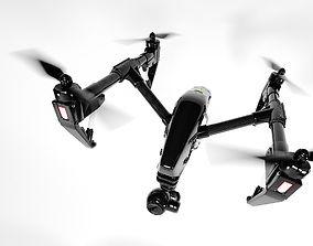 3D DJI Inspire 1 quadcopter detailed highpoly