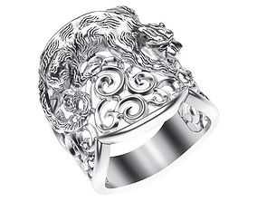 3D printable model Ring 013 panther