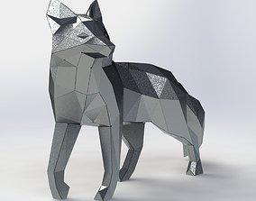 polygonal Fox model from sheet metal