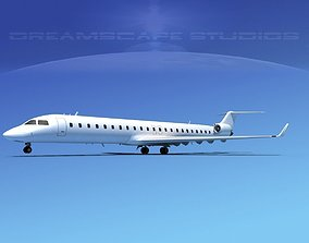 3D model Bombardier CRJ900 Unmarked 2