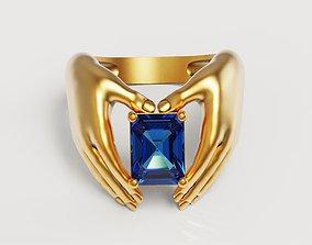 3D printable model Emerald Hand Ring