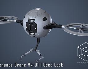 3D Maintenance Drone Mk1 Used Look