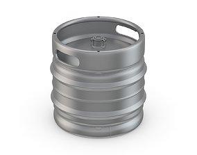 Stainless Steel Beer Keg 30L 3D model