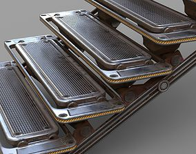 SCI-FI Stair - PBR Game-Ready 3D asset