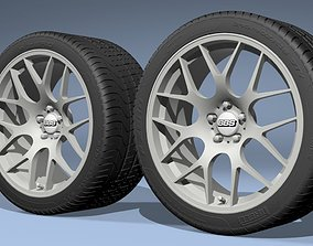 BBS CH-R Alloy wheels with PZERO tires 3D model