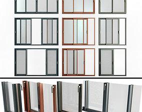 3D Sliding Stained Glass Aluminum Windows
