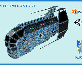 3D model Spaceship Patriot Type 2 C1 Blue