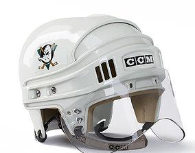 3D model Anaheim Ducks CCM Hockey Helmet