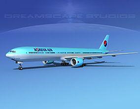 Boeing 777-300 Korean Airlines 3D