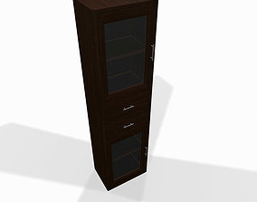 3D Narrow wooden shelf