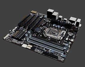 3D model Gigabyte B85M-D3H Motherboard