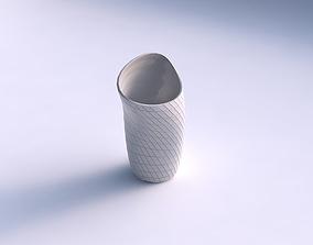 3D printable model Vase vortex with grid plates