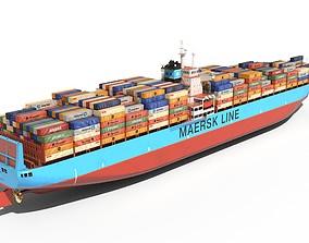 Container ship 300m 3D asset
