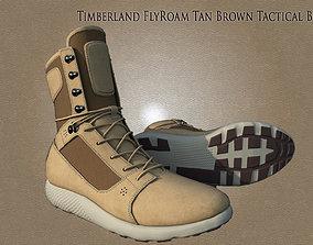3D asset Timberland FlyRoam Tan Brown Tactical Leather