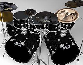 3D Drum set eevee