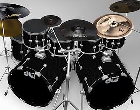 cymbal Drum set 3D