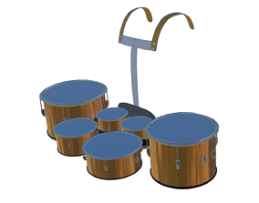 Marching Band Snare Drum 3D
