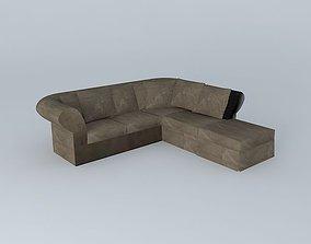 3D model Roma corner sofa Maisons du Monde
