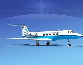 3D model Grumman Gulfstream C-II US Government