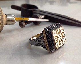 3D printable model man jewelry designer ring