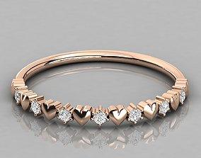Women ring 3dm stl render detail jewellery brilliant
