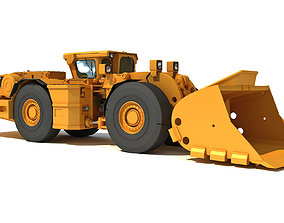 Underground Hard Rock Dump Loader 3D model