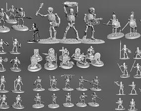 3D printable model Undead Skeleton Army Wargames Set 3