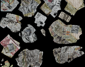 Newspapers rubbish 3D