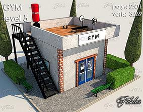 3D model realtime Gym Level