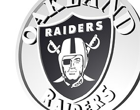3D Raiders logo disc