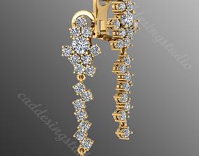 3D printable model sphere earrings sm14