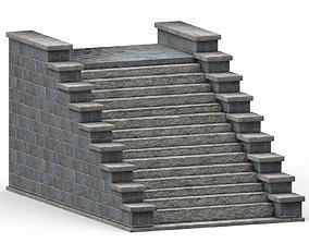 kingdom Stone stairs 3D model VR / AR ready