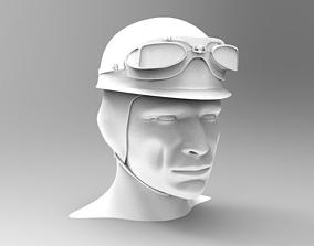 1955 Formula 1 Driver Helmet JM Fangio 3D printable model