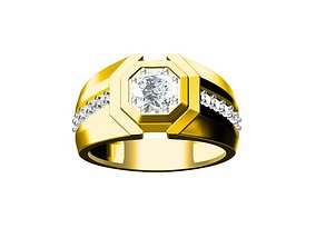 6mm diamond ring 3D printable model