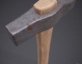 3D asset Old Rustic Hammer