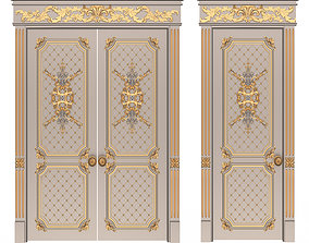 3D model game-ready Carved Door Classic 05
