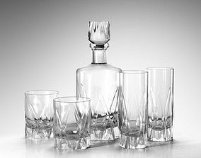 3D model Icebreaker Decanter and Tumblers