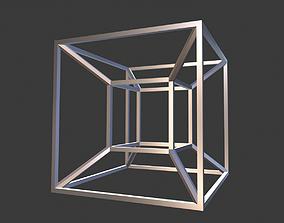 3D printable model Tesseract symbol