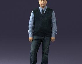 Man sleeveless jacket and jeans 0511 3D print model
