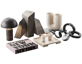 3D model Living decor set for the coffee table NEW YORK 00
