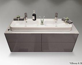 3D Finion vanity unit angular bathroom