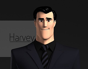 3D Harvey Stylized Male Character